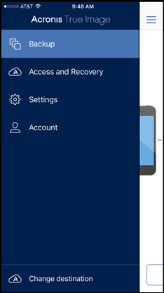 Back up your mobile data to Acronis Cloud
