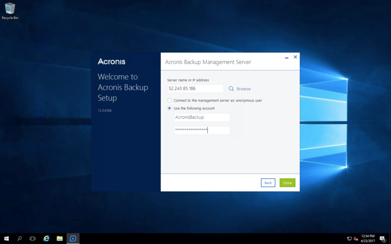 How to Add a Windows Server to an Existing Acronis Backup 12.5 Cluster