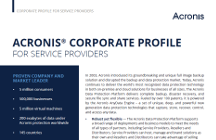Acronis Corporate Profile for Service Providers