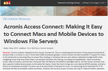 Acronis Access Connect: Making It Easy to Connect Macs and Mobile Devices to Windows File Servers