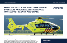 The Royal Dutch Touring Club (ANWB) BV Selects Acronis Access Advanced for Secure File Sync and Share