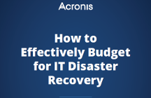 How to Effectively Budget for IT Disaster Recovery
