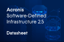 Acronis Software‑Defined Infrastructure Fogli informativi