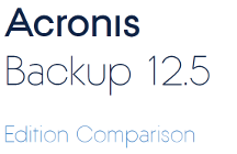 Acronis Backup 12.5 Edition Comparison