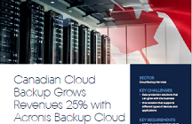 Canadian Cloud Backup은 Acronis Backup Cloud를 사용하면서 수익이 25% 증가했습니다.