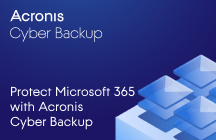 Protect Microsoft 365 with Acronis Cyber Backup