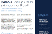 Acronis Backup Cloud Extension for Plesk