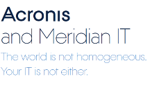 Acronis and Meridian IT: Disaster Recovery for Windows, Linux and IBM iSeries AS/400s
