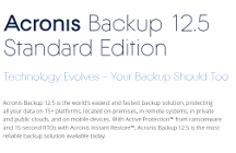 Acronis Backup 12.5 Standard Edition What's New