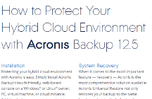 How to Protect Your Hybrid Cloud Infrastructure with Acronis Backup 12.5