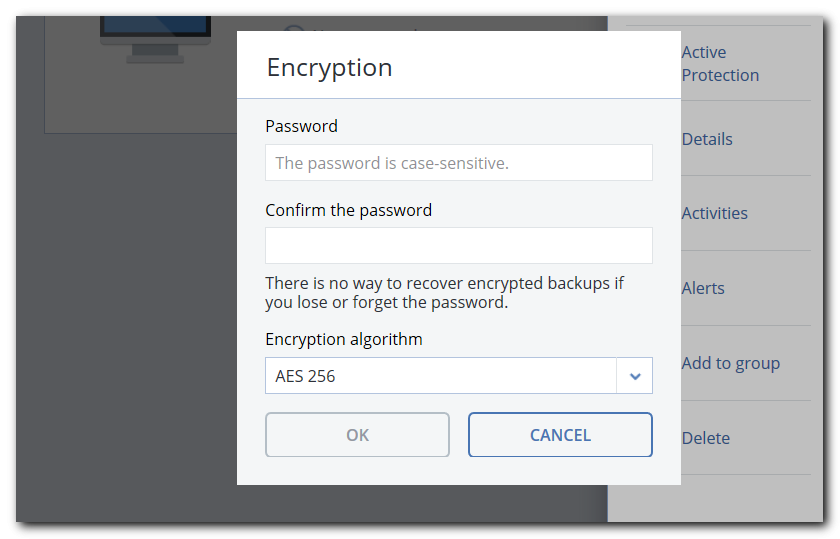 Encrypt your backup