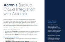 Acronis Backup Cloud Integration with Autotask PSA
