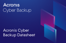 Acronis Cyber Backup Datasheet
