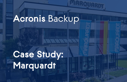 Marquardt chooses Acronis for a trouble‑free production process