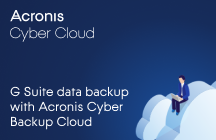 G Suite data backup with Acronis Cyber Backup Cloud