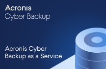 Acronis Cyber Backup as a Service