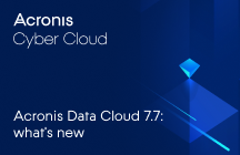 Acronis Data Cloud 7.7 - Novedades