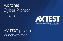 Acronis Cyber Protect Cloud: Results of the AV-TEST Private Windows Test