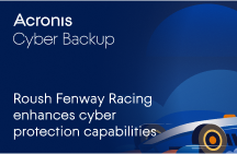 Roush Fenway Racing Enhances Cyber Protection Capabilities with Acronis Cyber Backup
