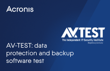AV-TEST: Data Protection and Backup Software Test
