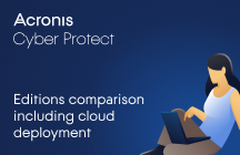 Acronis Cyber Protect 15 Editions Comparison Including Cloud Deployment