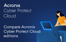 Compare Acronis Cyber Protect Cloud Editions