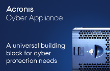 Acronis Cyber Appliance a universal building block for Cyber protection needs