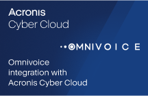 Omnivoice integration with Acronis Cyber Cloud