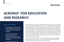 Acronis for Education and Research