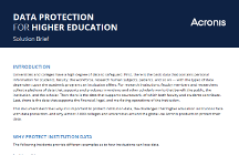 Acronis Data Protection for Higher Education