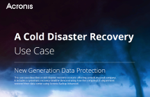 Acronis Use Case - Cold Disaster Recovery