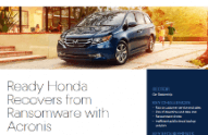 Ready Honda Recovers from Ransomware with Acronis