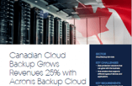 Canadian Cloud Backup 借助 Acronis Backup Cloud,收入增长了 25%