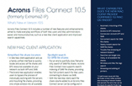 Acronis Files Connect 10.5 What's New