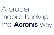 Acronis True Image Mobile backup