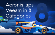 Acronis laps Veeam in 8 categories