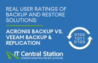 Real user ratings of backup and restore solutions: Acronis Backup and Veeam Backup & Replication