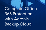 Acronis Backup Cloud for Office 365 Datasheet