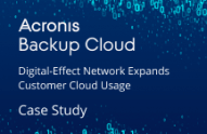Digital-Effect Network Expands Customer Cloud Usage with Acronis