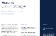 Acronis Cloud Storage データシート