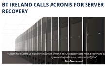 Acronis Empowers BT Ireland with Server Restores in Mere Minutes