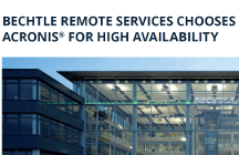 Bechtle Remote Services Reliably Meet Short RTOs with Acronis Backup Advanced