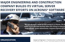 Hargrove Engineering Meets 15-Minute Virtual Server RTO with Acronis Backup Advanced