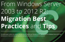 Caso de uso: de Windows Server 2003 a 2012 R2