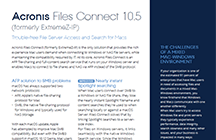 Acronis Files Connect 10.5 Datasheet