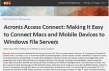 ESG Solution Showcase: Making It Easy to Connect Macs and Mobile Devices to Windows File Servers