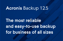 Acronis Backup 12.5 Advanced Edition : nouveautés