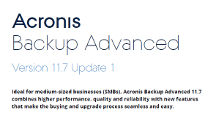 Acronis Backup Advanced 11.7 - What's New