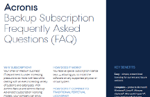 FAQs zu Acronis Backup-Abonnements