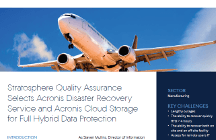 Stratosphere Quality Selects Acronis Disaster Recovery Service and Acronis Cloud Storage for Full Data Protection